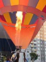 zbliżenie na balon